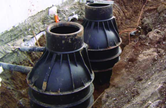 image of pipes being fitted