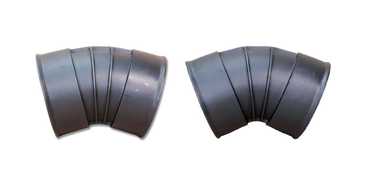 BTW300X30 - 300mm x 30° Bend, BTW300X45 - 300mm 45° Bend