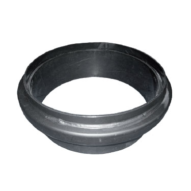 Top section for round risers designed to accommodate manholes